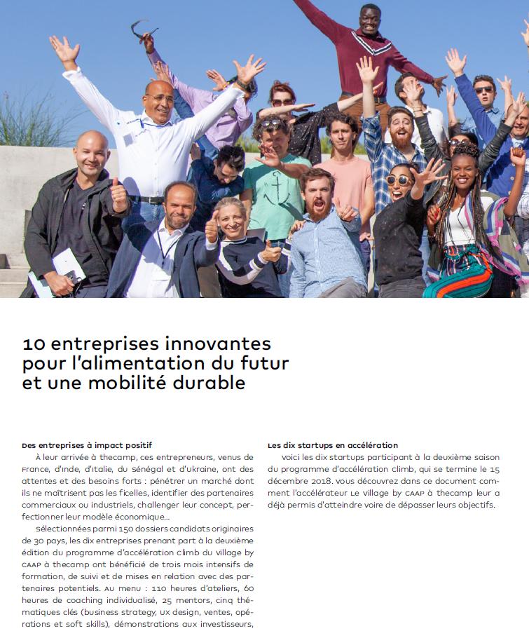 Programme « Climb », accélération de start-up à impact positif (thecamp, 2019)